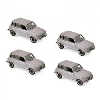 1:87 1987 Renault 4 GTL - Grey Metallic x 4