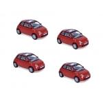1:87 2007 Fiat 500 - Red x4