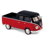 1:43 1961 VW T1 Double Cabin - Red/Black