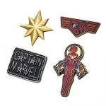 Captain Marvel Enamel Lapel Pin Set x 4