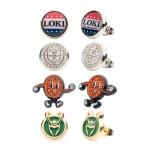 Loki-themed Stud Earring Set