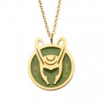 Enamel Loki Helmet Necklace
