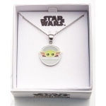 The Mandalorian The Child Silver Plated Pendant