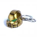 Spacemarine MKVII Helmet Gold Keychain