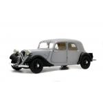 1:18 1937 Citroen Traction 11 CV -Silver/Black